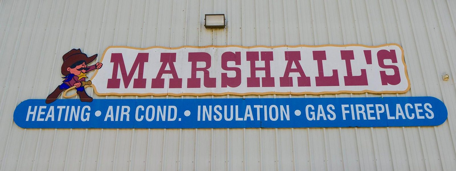 Marshall's HVAC Sign