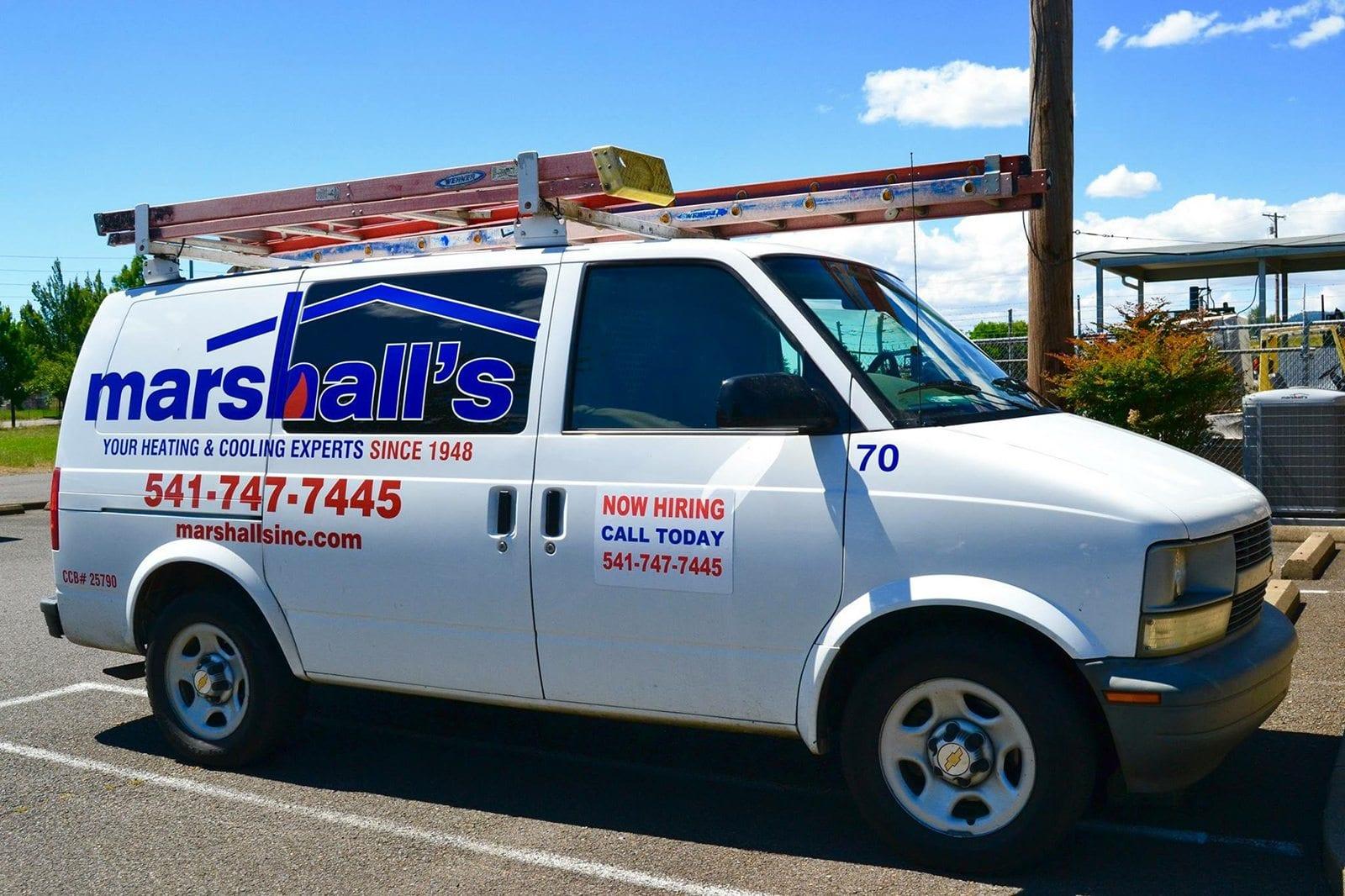 Marshall's HVAC Service Van