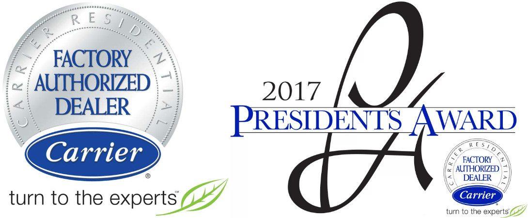 2017 President's Award Carrier Factory Authorized Dealer