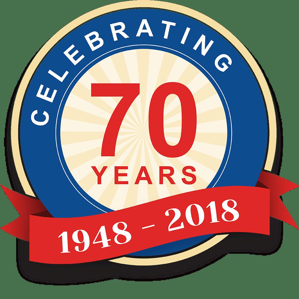 Celebrating 70 years. 1948 - 2018.