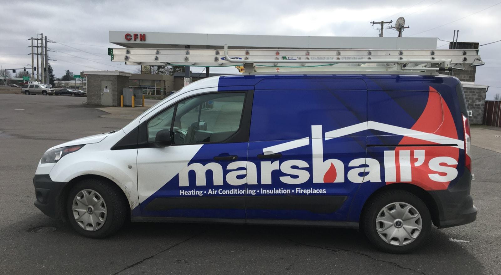 Marshall's HVAC Service Van.
