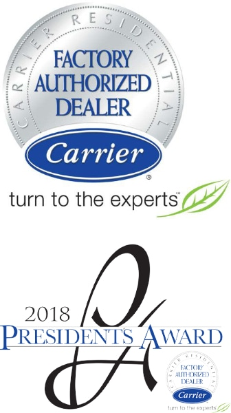 2018 President's Award Carrier Factory Authorized Dealer